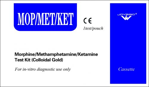 Lateral Flow Morphine/Methamphetamine/Ketamine Test Kit (Colloidal Gold)